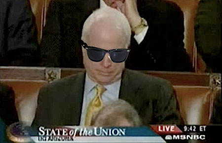 The only thing getting worse than McCain's campaign would be our photoshopping skills.