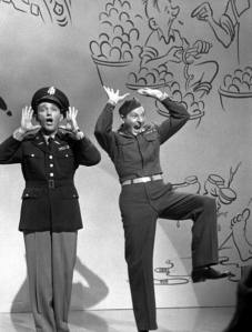 Bing Crosby and Danny Kaye performing in the movie White Christmas (1954)