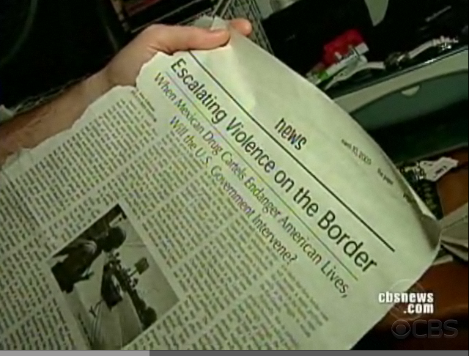 the paper...featured on CBS Evening News