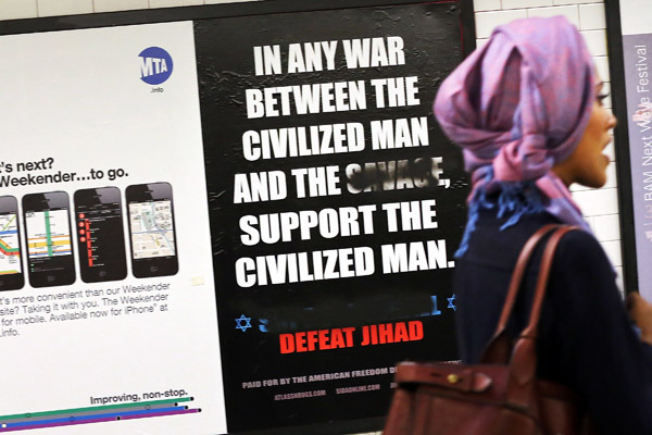 Anit-Islamic ads make their way back into NYC subways.